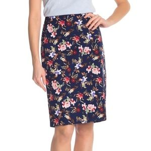 Philosophy Apparel Floral Vented Pencil Skirt